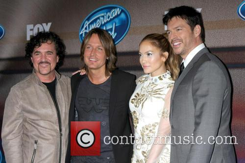 Scott Borchetta, Keith Urban, Jennifer Lopez and Harry Connick Jr. 1