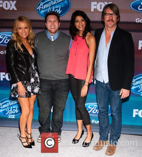 (l-r) Actors Becki Newton, Nate Torrence, Meera Rohit Kumbhani and Zachary Knighton 2