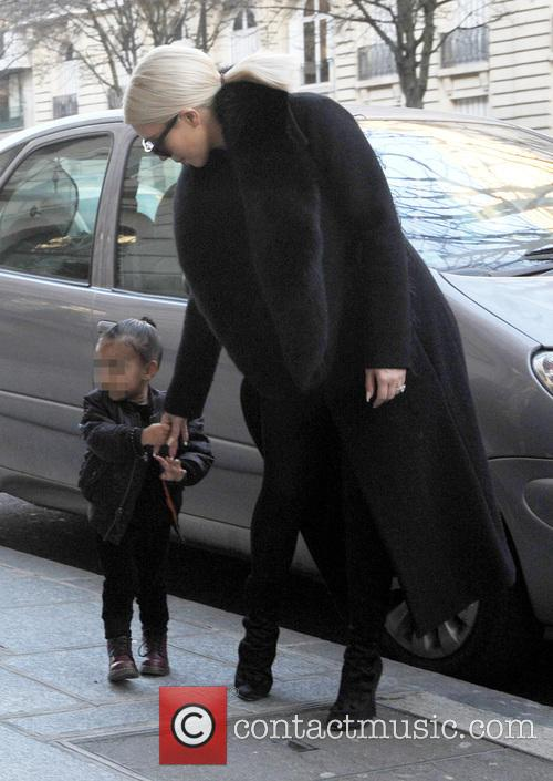 Kim Kardashian and North West 2