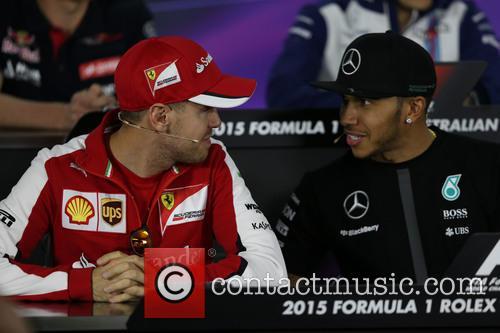 Sebastian Vettel and Lewis Hamilton 2