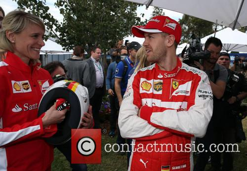 Britta Roeske and Sebastian Vettel 6