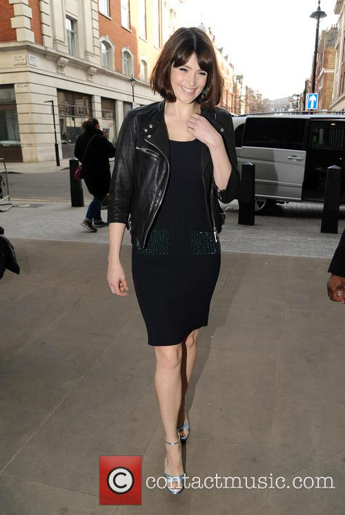 Gemma Arterton arrives at BBC Radio 1