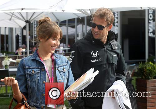 Jenson Button and Jessica Michibata 2