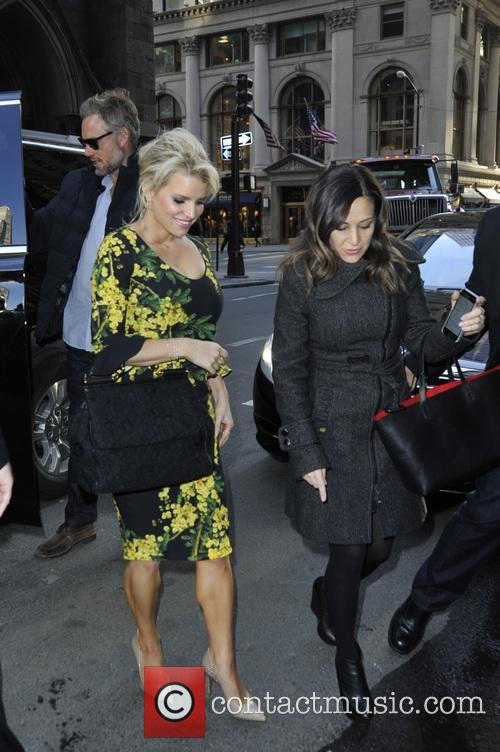 Jessica Simpson leaving the Today show