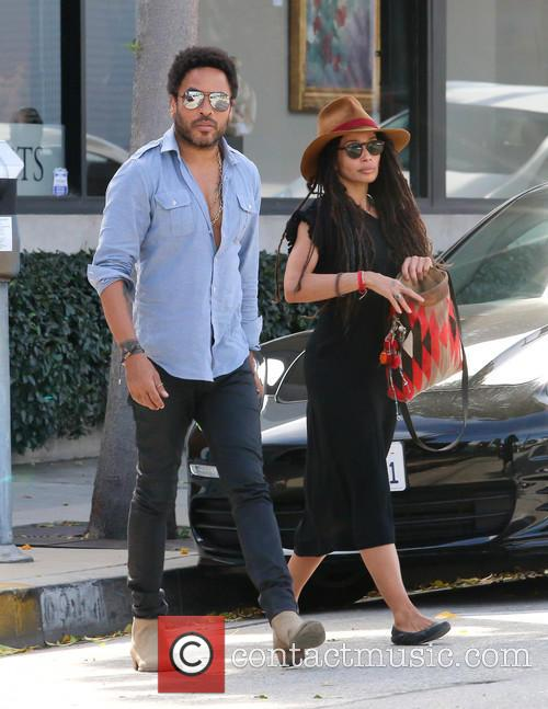 Lenny Kravitz and Lisa Bonet 9