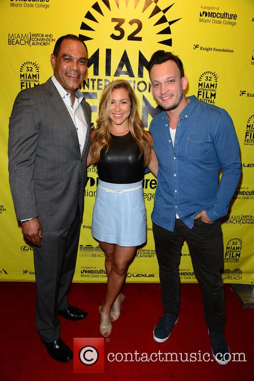 Dr. Rudolph G. Moise, Producer Allison Hagendrof and Director & Producer Ben Patterson 4
