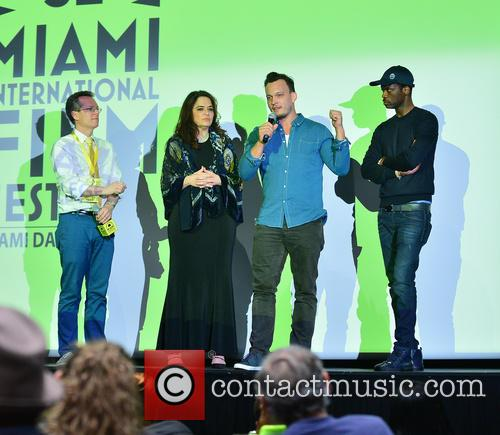 Pras Michel, Thom Powers, Producer Karyn Rachtman and Director & Producer Ben Patterson 9