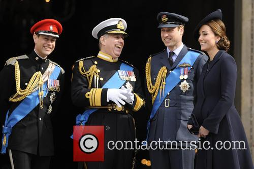 Prince Edward, Prince Andrew, Catherin Duches Of Cambridge and Prince William 1