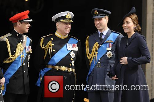Prince Edward, Prince Andrew, Catherin Duches Of Cambridge and Prince William 2