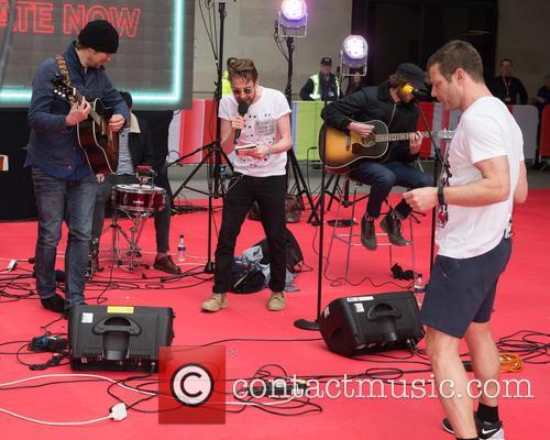 Celebrities at the BBC Studios to Aid Dermot...