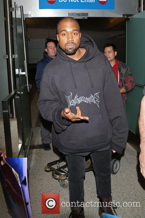 Kanye West at LAX