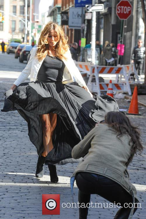 Kelly Bensimon fashion shoot in Soho