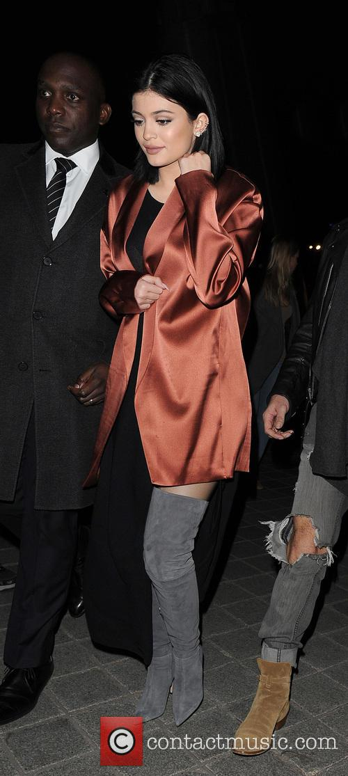 Kylie Jenner late night visit to the London...