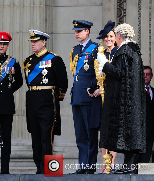 Prince William, Prince Andrew and Catherine Duchess Of Cambridge 11