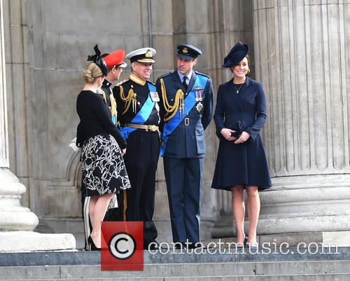 Prince Edward, Prince Andrew, Catherine Duchess Of Cambridge, Prince William and Cathedral 3