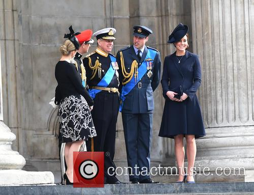 Prince Edward, Prince Andrew, Catherine Duchess Of Cambridge, Prince William and Cathedral 4