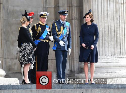 Prince Edward, Prince Andrew, Catherine Duchess Of Cambridge, Prince William and Cathedral 5