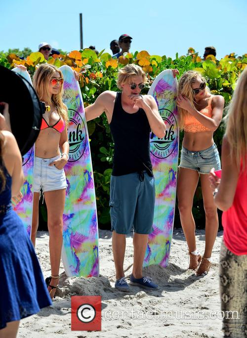 Gigi Hadid, Cody Simpson and Rachel Hilbert
