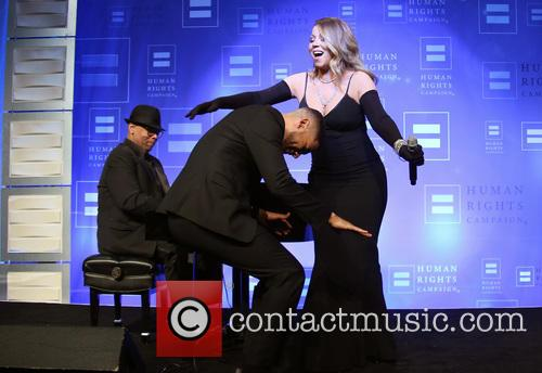 Jussie Smollett and Mariah Carey 6