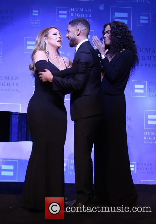 Jussie Smollett and Mariah Carey 8
