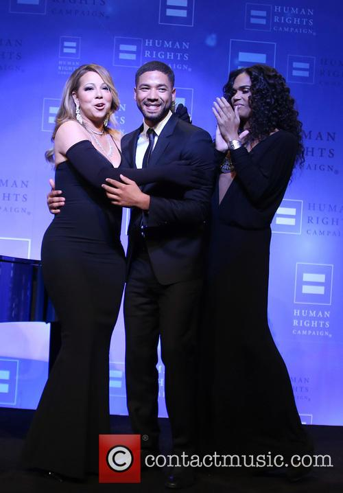 Jussie Smollett and Mariah Carey 9