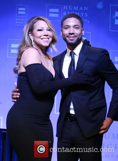 Jussie Smollett and Mariah Carey 11