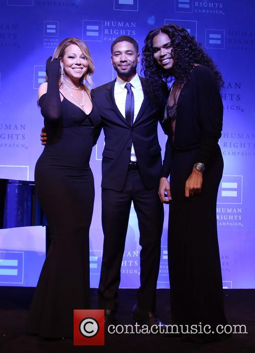 Jussie Smollett and Mariah Carey 1