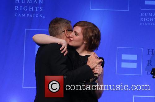 Michael Lombardo and Lena Dunham 3