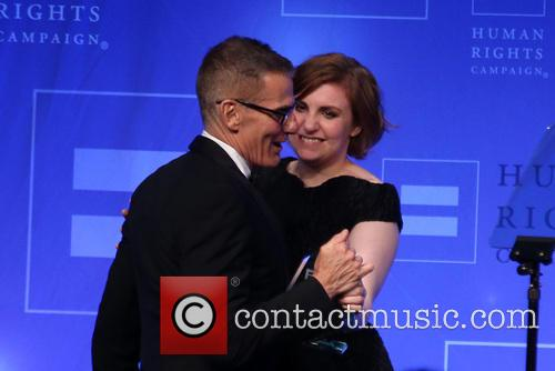Michael Lombardo and Lena Dunham 1