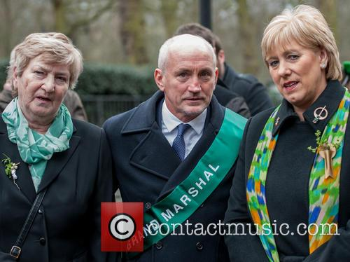 Barry McGuigan at the St Patrick's Day Parade...