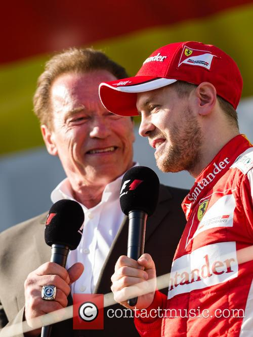 Arnold Schwarzenegger and Sebasian Vettel 2