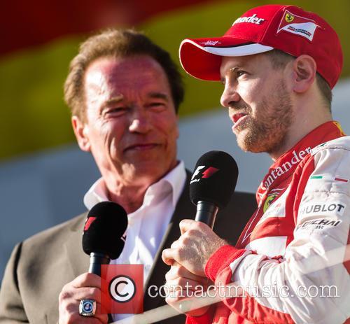Arnold Schwarzenegger and Sebasian Vettel 3