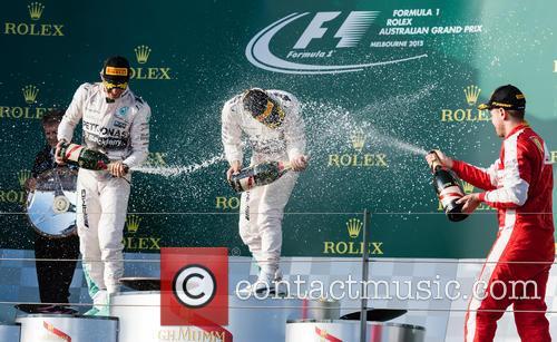 Lewis Hamilton, Nico Rosberg and Sebastian Vettel 5