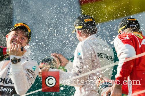 Lewis Hamilton, Nico Rosberg and Sebastian Vettel 7