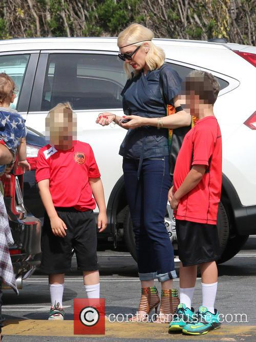 Gwen Stefani, Zuma Rossdale and Kingston Rossdale 4