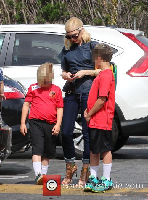 Gwen Stefani, Zuma Rossdale and Kingston Rossdale 5