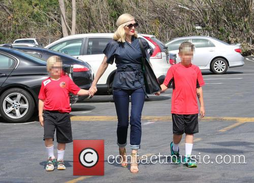 Gwen Stefani, Zuma Rossdale and Kingston Rossdale 9
