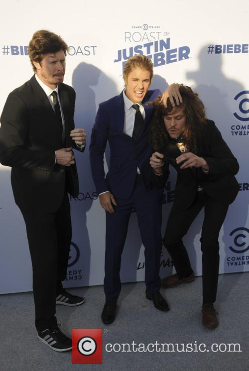 Anders Horm, Justin Bieber and Blake Anderson 1