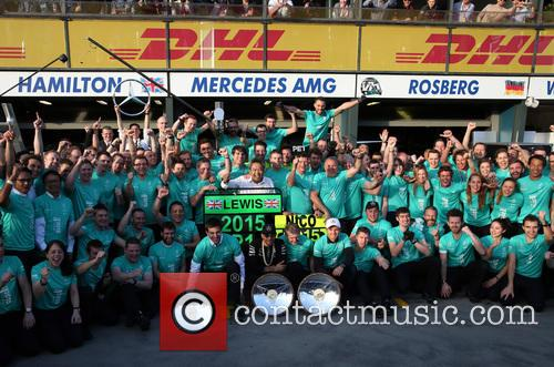 Toto Wolff, Lewis Hamilton, Dr. Thomas Weber and Nico Rosberg 4