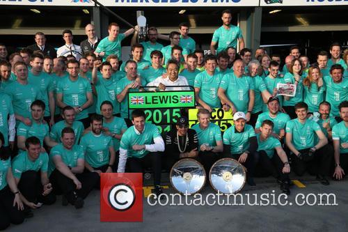 Toto Wolff, Lewis Hamilton, Dr. Thomas Weber and Nico Rosberg 5