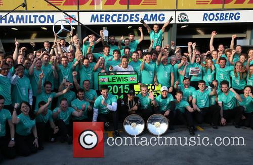 Toto Wolff, Lewis Hamilton, Dr. Thomas Weber and Nico Rosberg 6