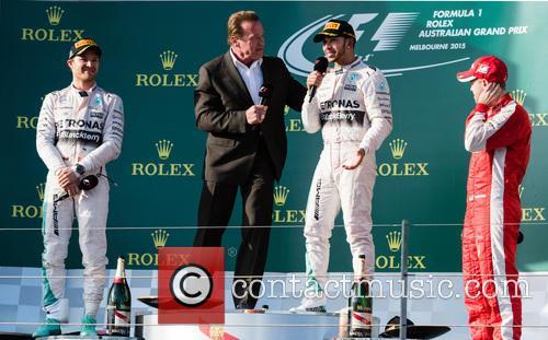 Arnold Schwarzenegger and Lewis Hamilton 9