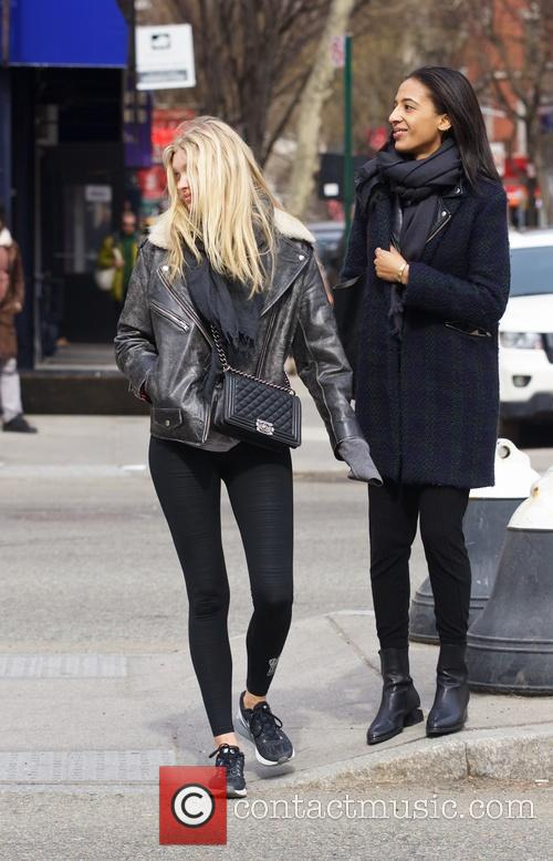 Elsa Hosk out and about in New York...