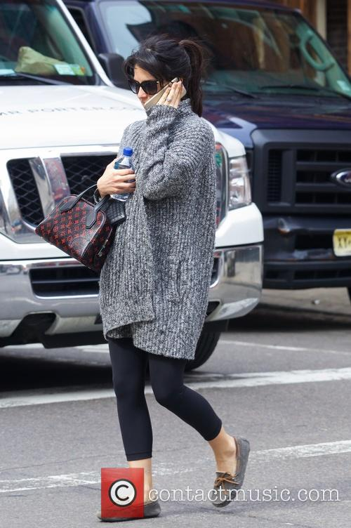 Hilaria Baldwin out and about in New York...