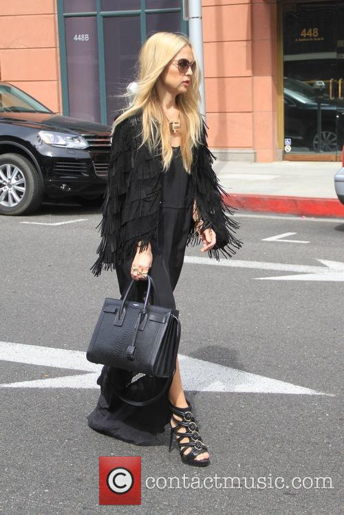 Rachel Zoe goes shopping in Beverly Hills