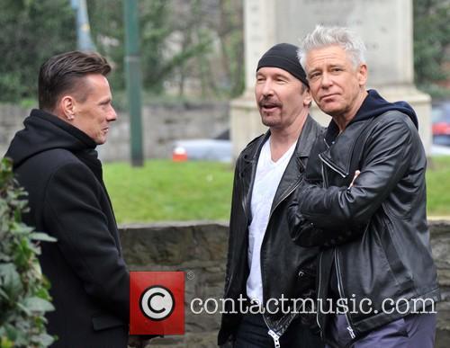 Larry Mullen, Edge and Adam Clayton 4