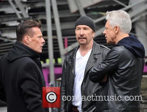 Larry Mullen, Edge and Adam Clayton 6