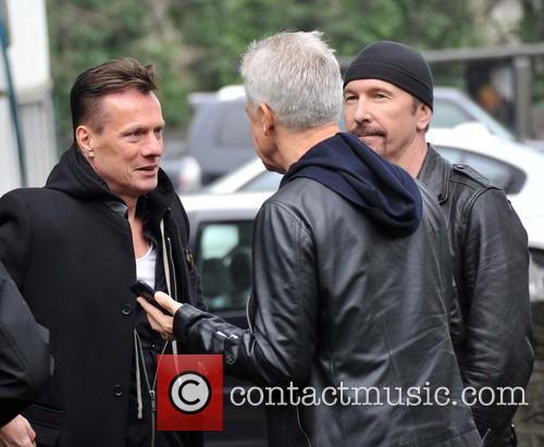 Larry Mullen, Edge and Adam Clayton 7