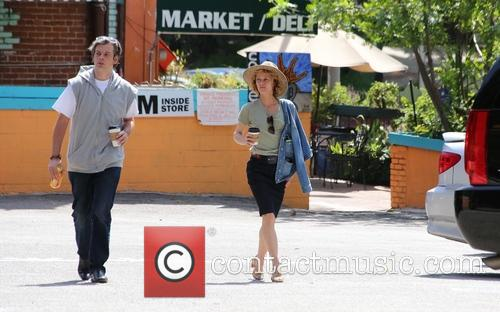 Vanessa Paradis stops off for a coffee in...