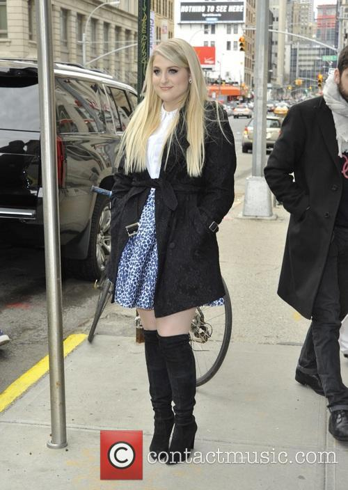 Meghan Trainor arriving at her hotel